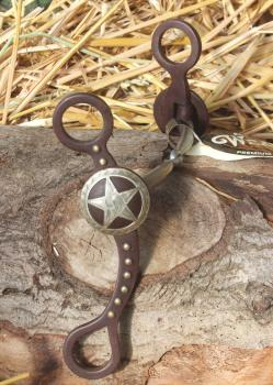 Weaver Snaffle with Shanks  Antique Brown Texas Star