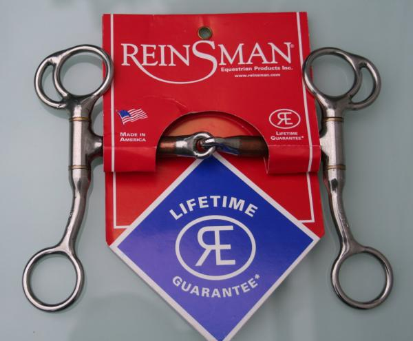 "Tom Thumb ½"" Smooth Copper Snaffle von Reinsman"